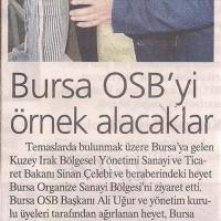 Bursa OSB'yi Örnek Alacaklar