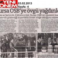 Bursa OSB'ye övgü yağdırıldı