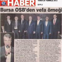 Bursa OSB'den vefa örneği