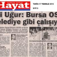 Ali Uğur: Bursa OSB belediye gibi çalışıyor