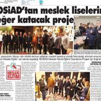 Bosiad'tan meslek liselerine değer katacak proje