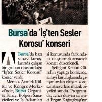 Bursa'da İş'ten Sesler Korosu konseri