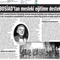 Bosiad'tan mesleki eğitime destek