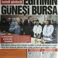 Eğitimin güneşi Bursa