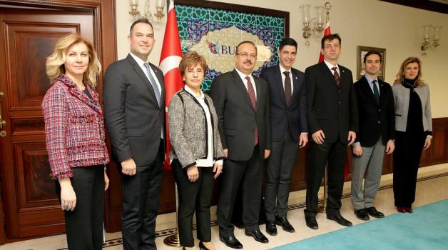BOSİAD'ın yeni yönetimi  Vali Canbolat'ı ziyaret etti